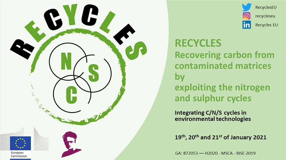 Great success on the RECYCLES online workshop: Integrating C/N/S into innovative environmental technologies
