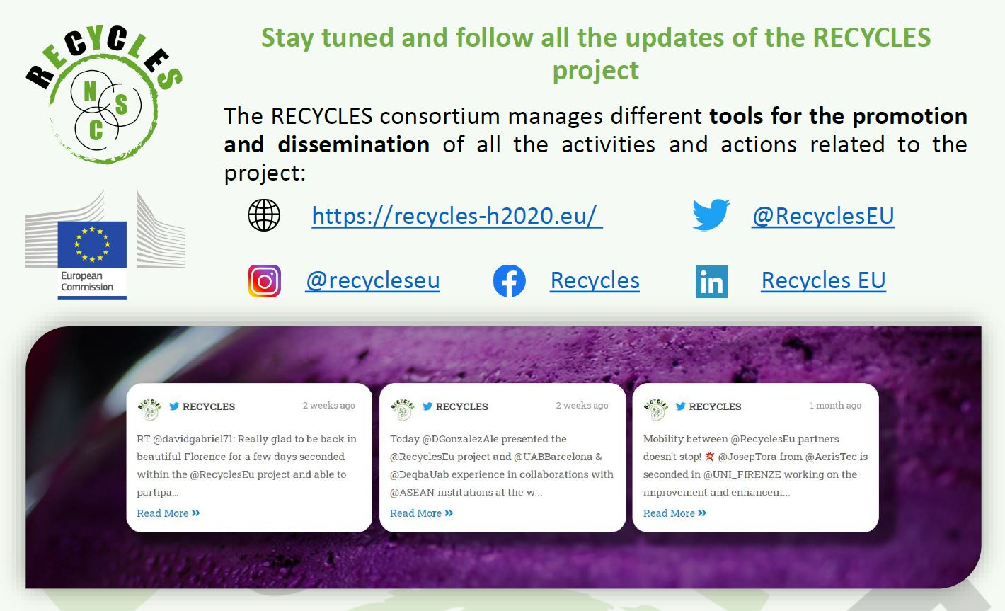 The third RECYCLES newsletter is now online